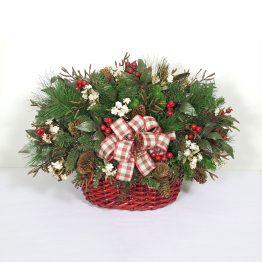 Traditional Christmas Basket