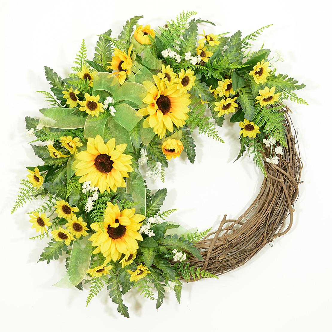 Ferns Flowers Summer Wreath Wreaths Unlimited