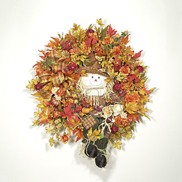 Autumn Scarecrow Wreath