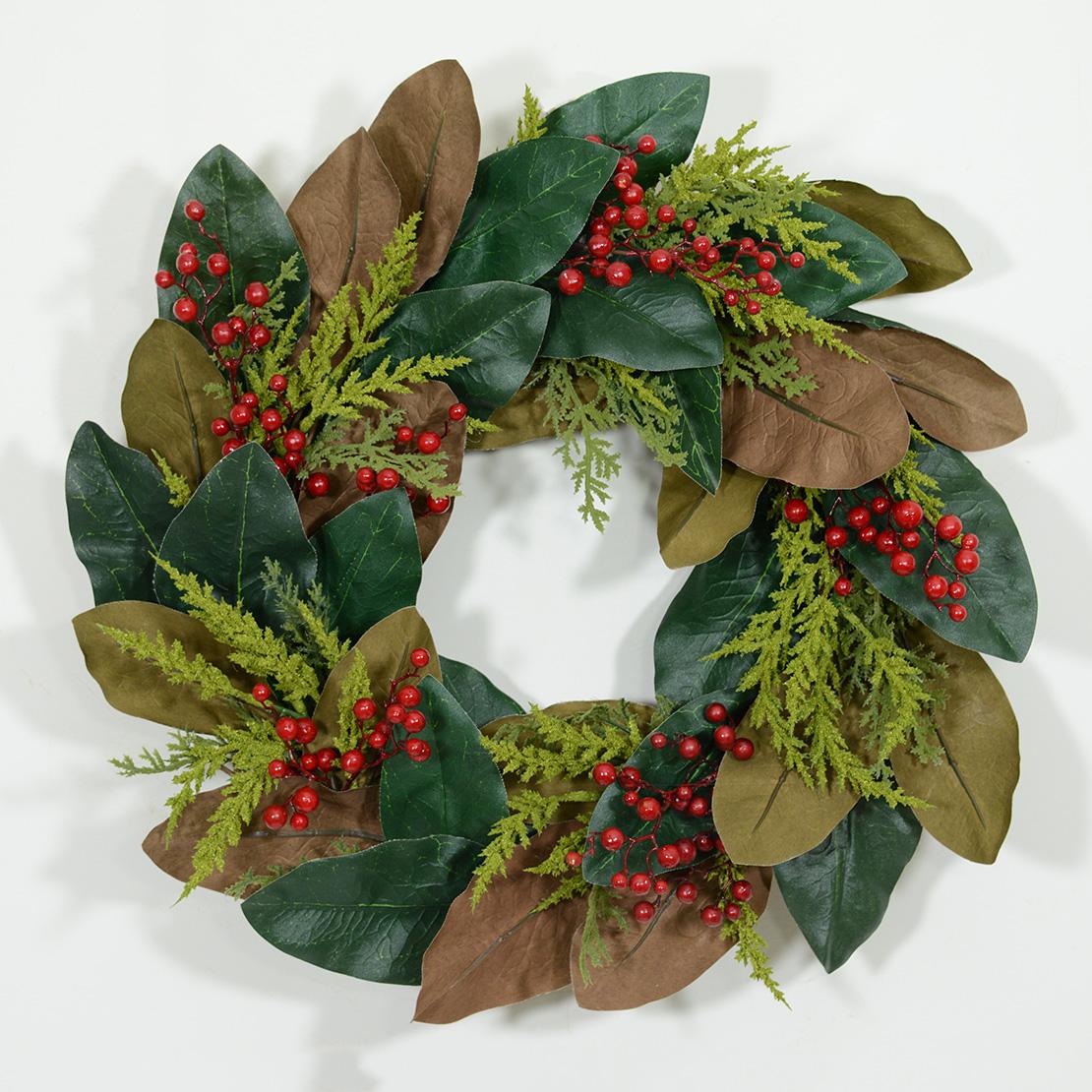 holiday magnolia leaf wreath wreaths unlimited