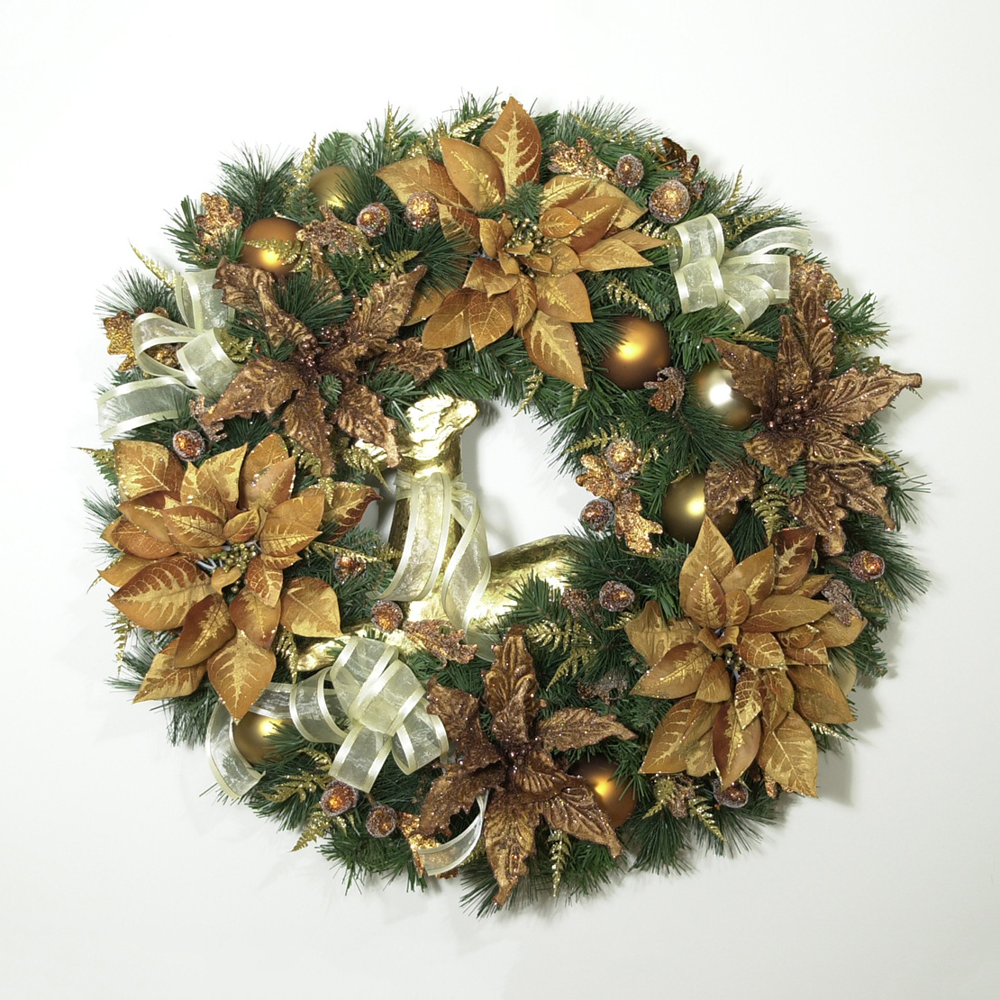 Americana christmas ornaments - Americana Christmas Wreath