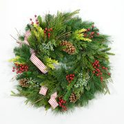 Northern Alpine Evergreen Wreath