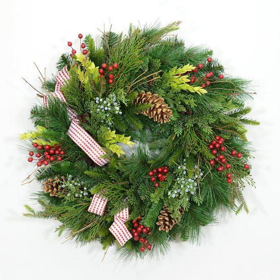 Northern Alpine Evergreen Wreath
