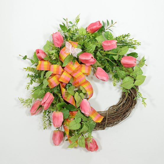 Tulip Butterfly Garden Wreath
