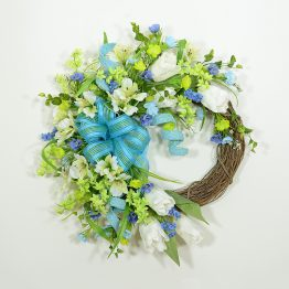 Spring Flower Quartet Wreath
