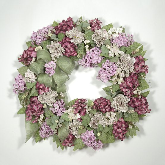 Elegant Mountain Hydrangea Wreath