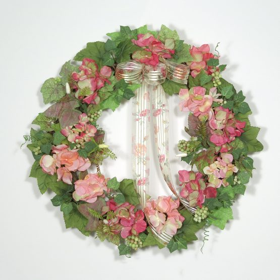 Delicate Garden Flower Wreath