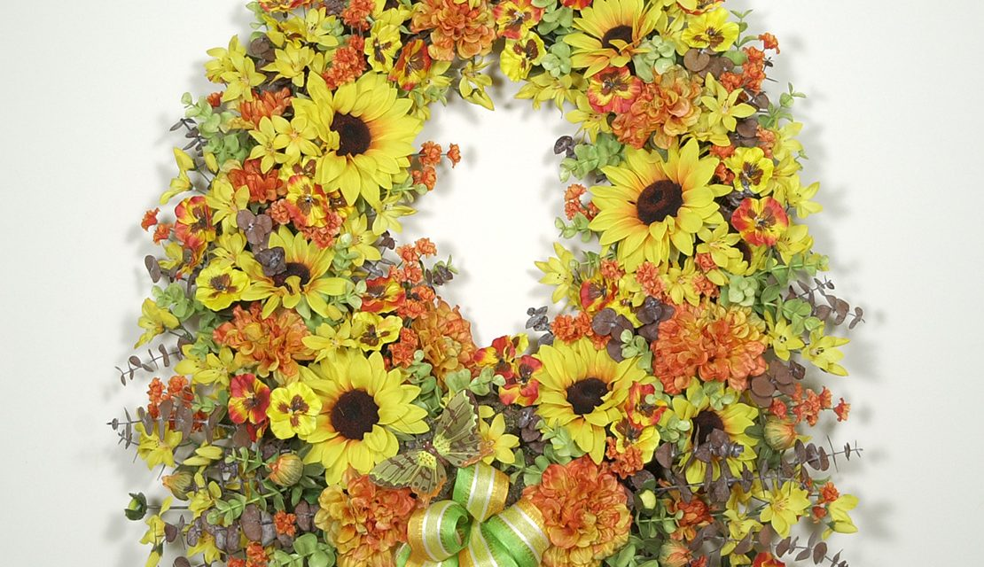 Butterfly Meadow Wreath