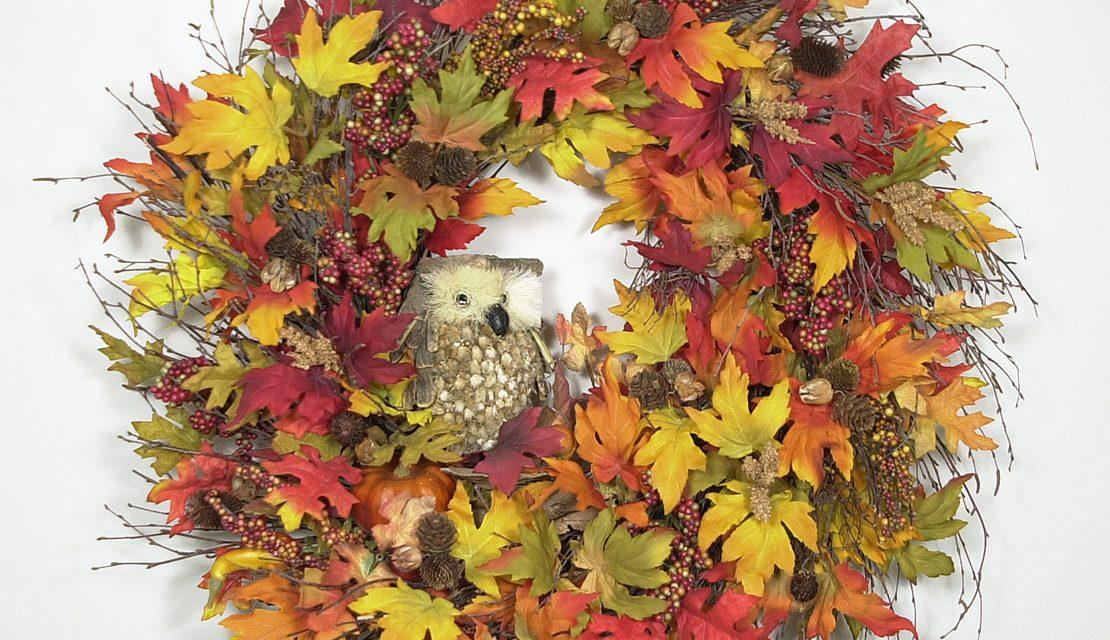 Autumn Hooter Wreath