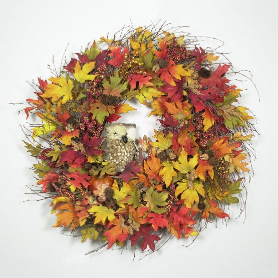 Autumn Hooter Wreath