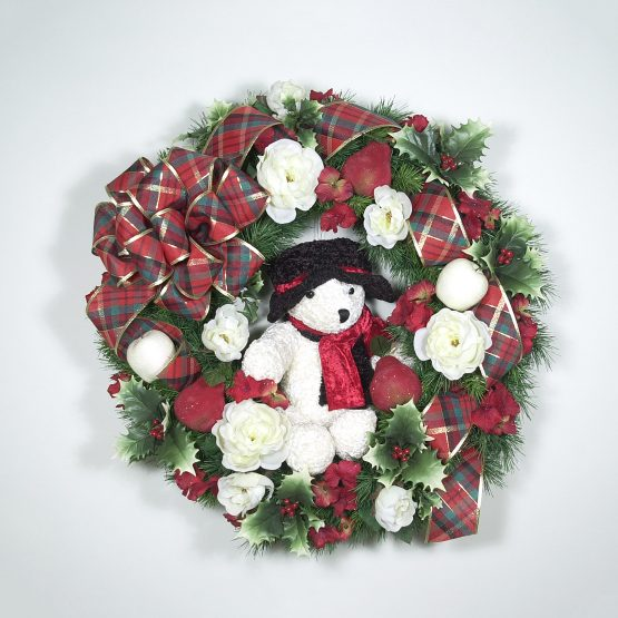 Teddy Bear Christmas Wreath