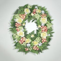 Ferns & Flowers Wreath