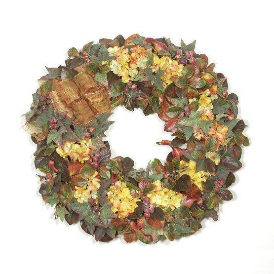 Autumn Hydrangea Wreath