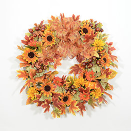 Brilliant Hues of Autumn Wreath