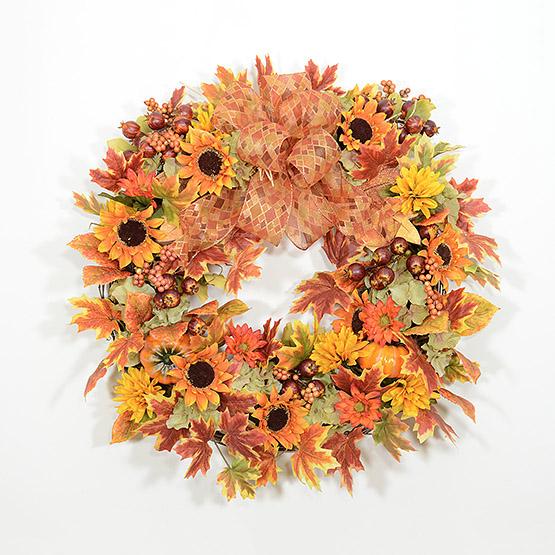 Brilliant Hues of Autumn Wreath