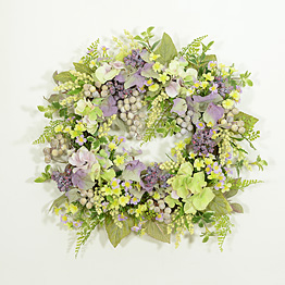 Romantic Cottage Garden Decorator Wreath