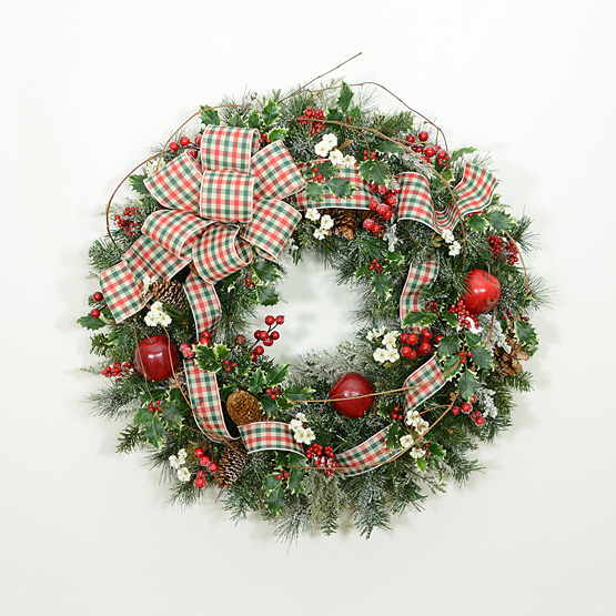 A Country Christmas Wreath