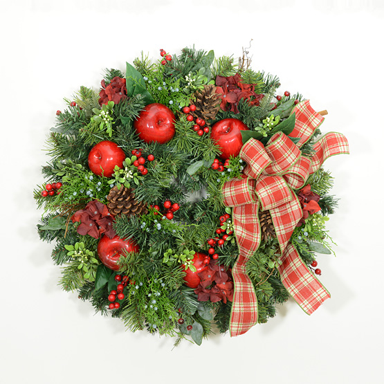 Plaid Tidings Christmas Wreath