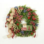 Buffalo Checked Christmas Wreath