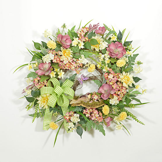 Flower Quartet Spring Wreath