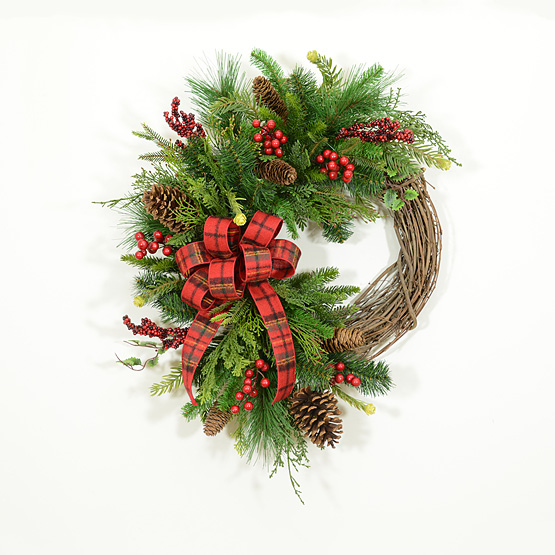 Welcoming Holiday Winter Wreath