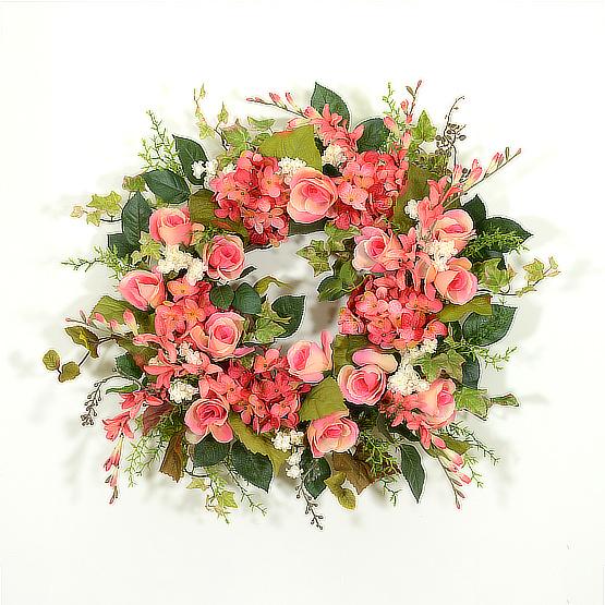 Romantic Rose Garden Summer Wreath