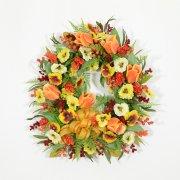 Sunlit Summer Blooms Wreath