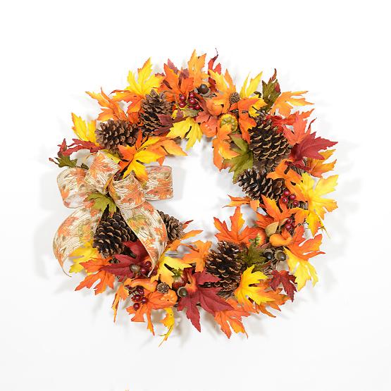 Casual Elegance Autumn Wreath