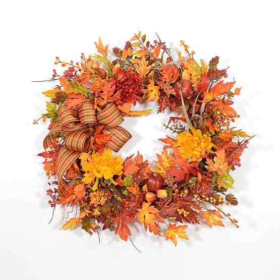 Nature's Bounty Autumn Wreath