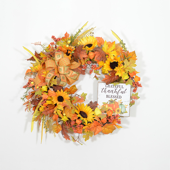 Thankful and Blessed Autumn Wreath